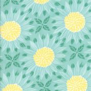 Grand Canal by Kate Spain - 5055 - Sunflowers in Yellow and Pale Green - 27251 13 - Cotton Fabric